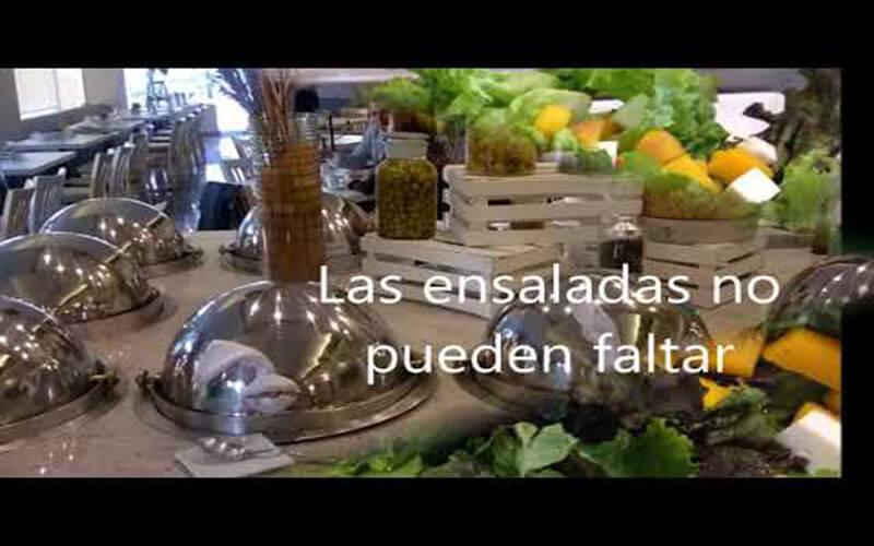 Barra de ensaladas Restaurante Hotel Stanza