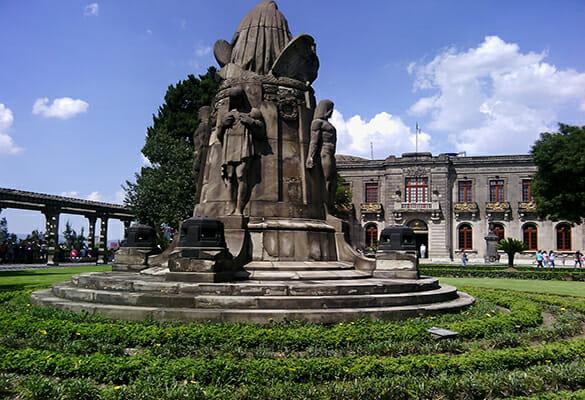 Chapultepec, Jardín del castillo de chapultepec
