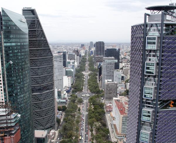 Paseo de la reforma visto desde Chapultepec