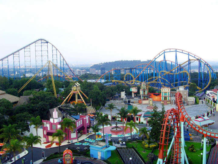 Six flags México visto desde X Flight