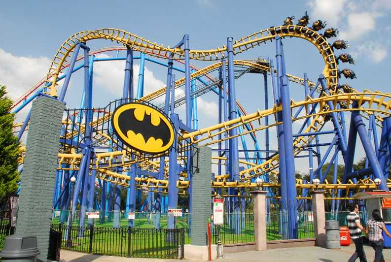 Batman the ride Six Flags México