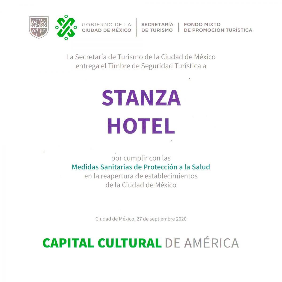 Timbre de Seguridad Turística Ciudad de México 2020